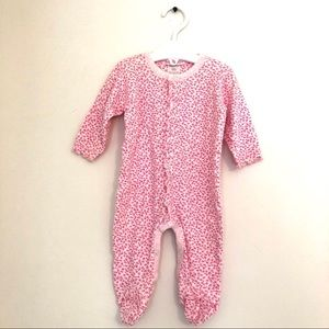 Baby Steps Long-Sleeve Pink Floral Footie | 3m